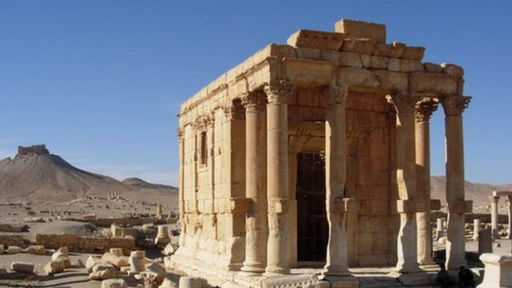 Destruction of Palmyra's Baalshamin temple 'a war crime' - BBC News