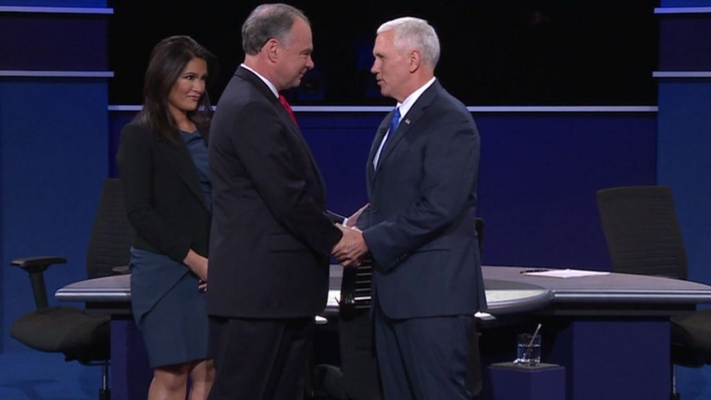 US election: Pence and Kaine fight over Trump taxes