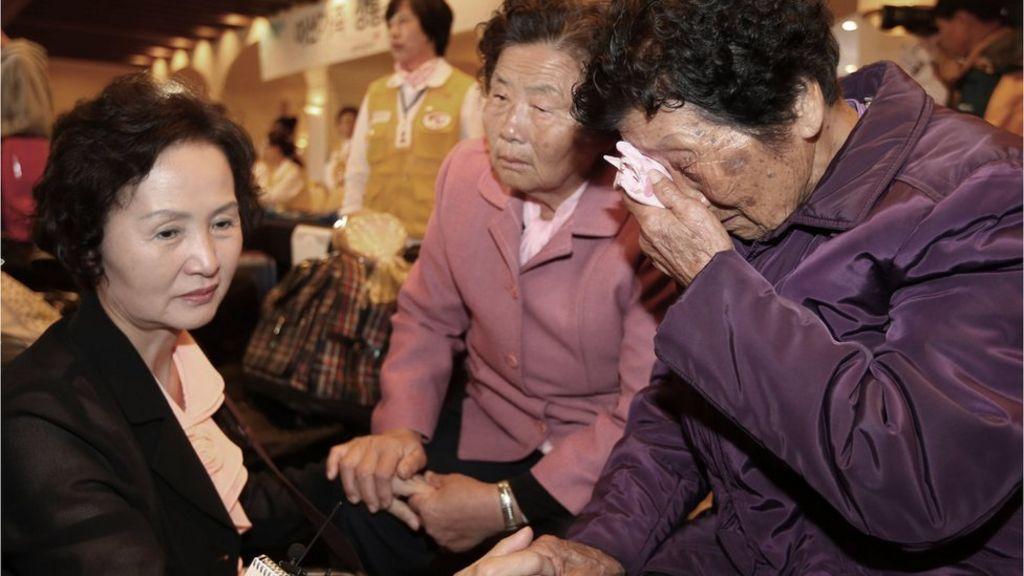 The human drama of Korean family reunions - BBC News