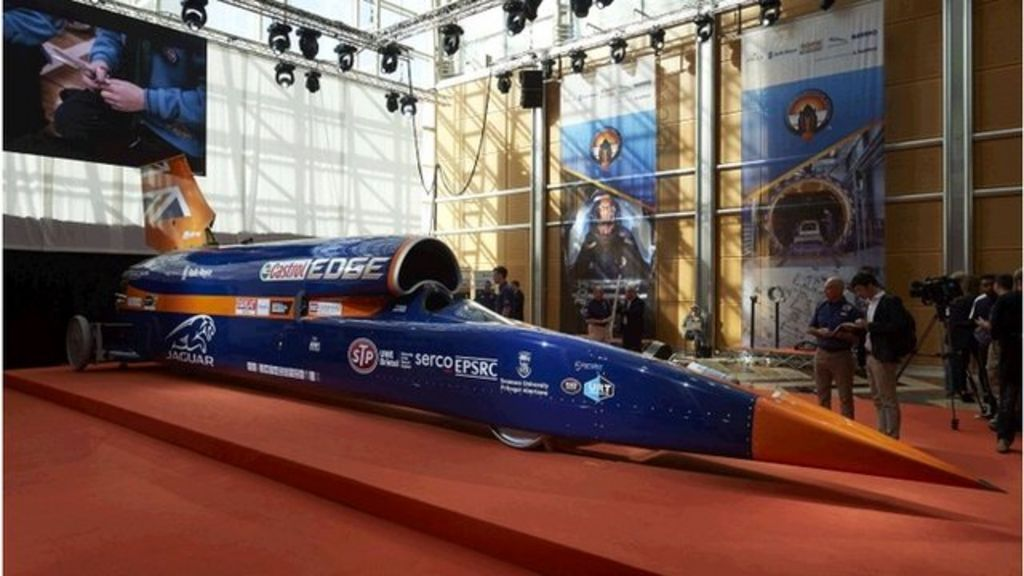 Bloodhound car aiming for land speed record unveiled - BBC News