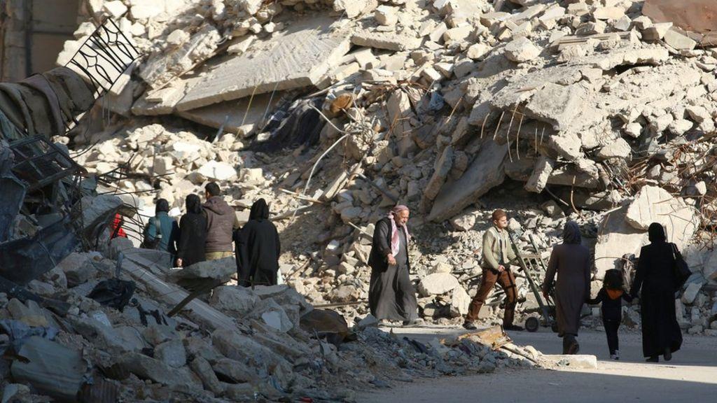 الحرب في سوريا: روسيا  تستأنف خلال ساعات  الغارات على حلب - BBC Arabic