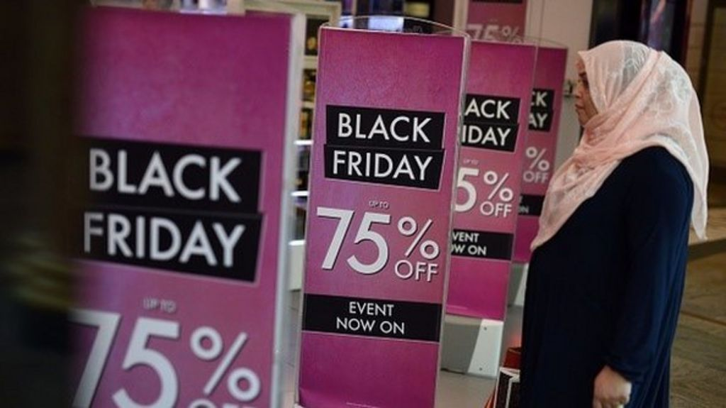 black friday sales rush reported by retailers bbc news. Black Bedroom Furniture Sets. Home Design Ideas