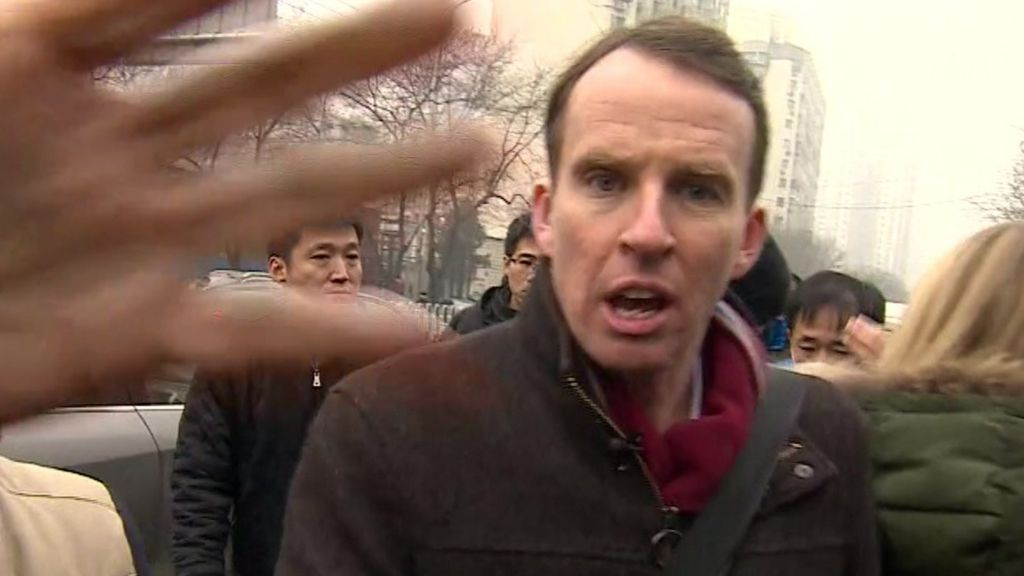BBC reporter manhandled outside Pu Zhiqiang trial - BBC News