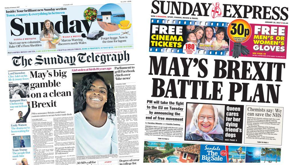 Brexit News: Newspaper Headlines: Theresa May's Brexit Battle Plan
