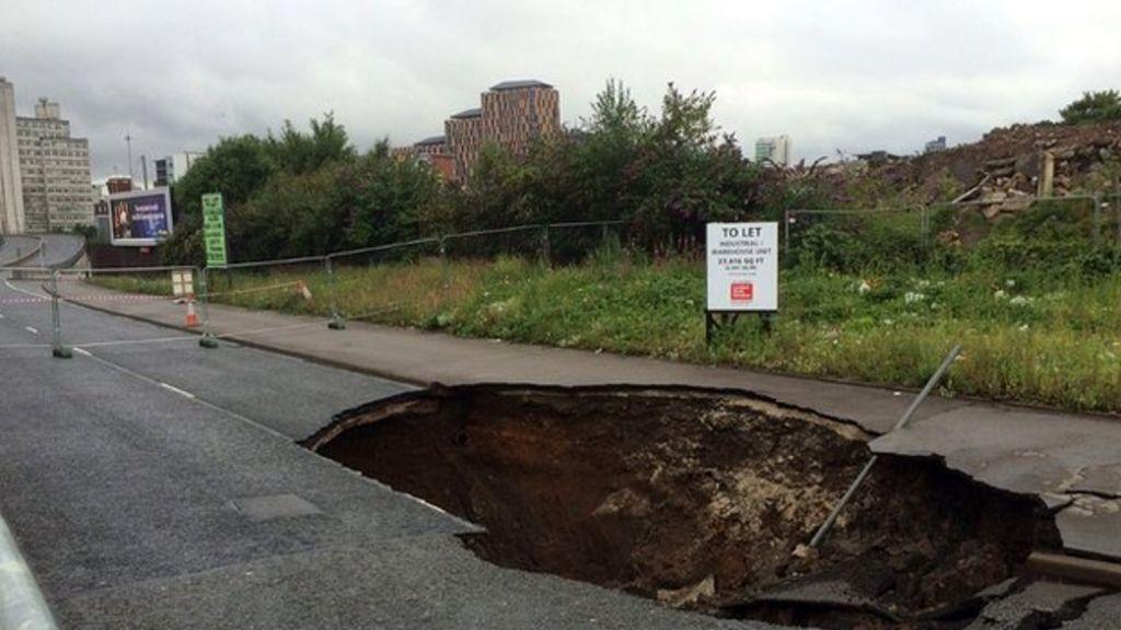 Manchester Mancunian Way Mancunian Way Collapse Huge