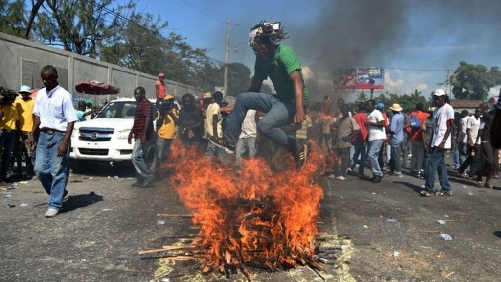 Haiti election results trigger violent protests - BBC News
