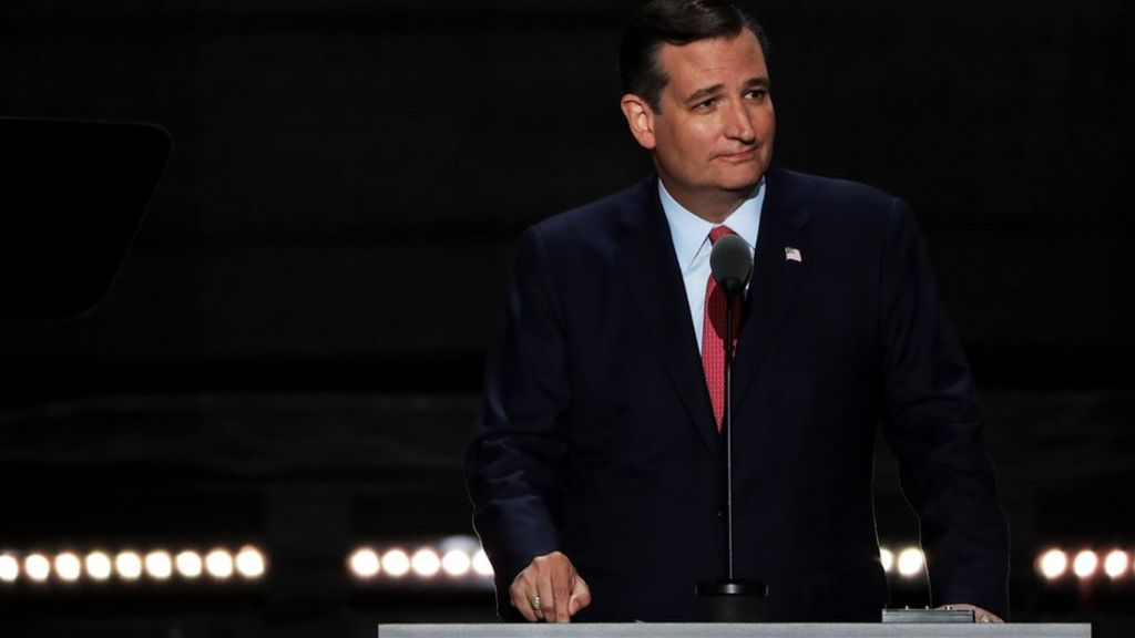 US election: Ted Cruz booed for failing to back Donald Trump