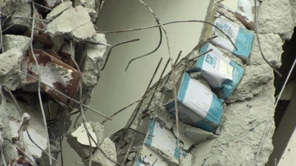 Taiwan earthquake: Felled building 'used tin can fillers'