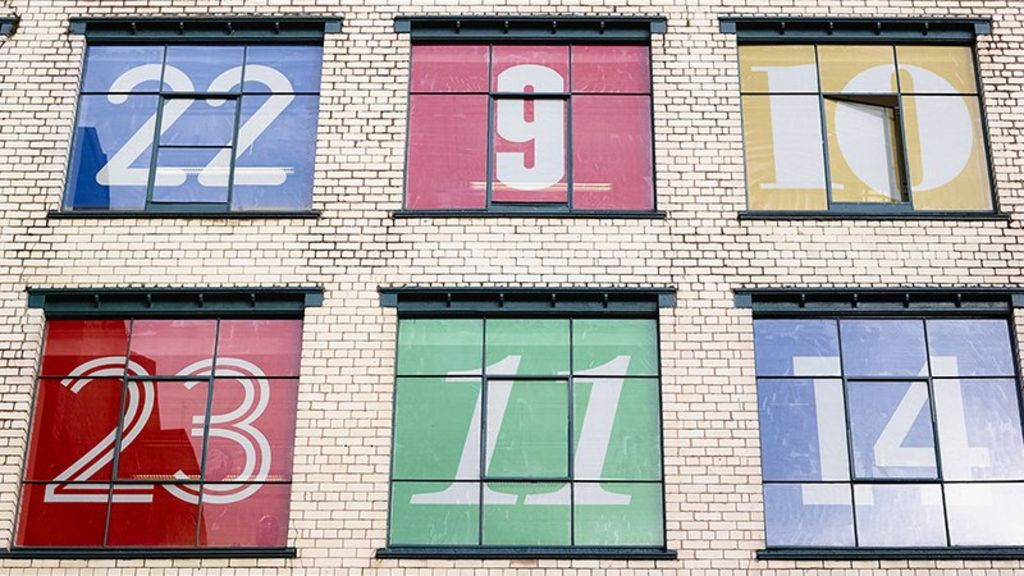 giant advent calendar unveiled in manchester bbc news. Black Bedroom Furniture Sets. Home Design Ideas