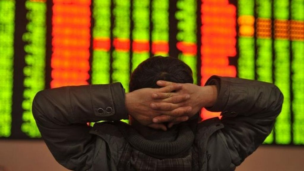 China share trading halted after 7% plunge - BBC News
