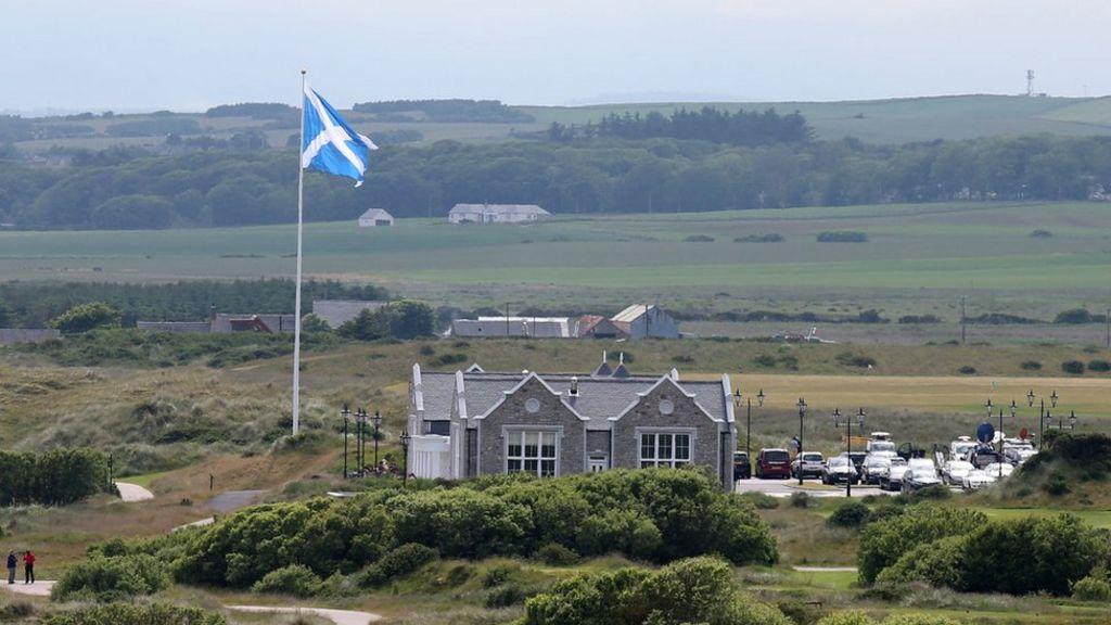 Donald Trump wins Menie golf course flag pole wrangle - BBC News