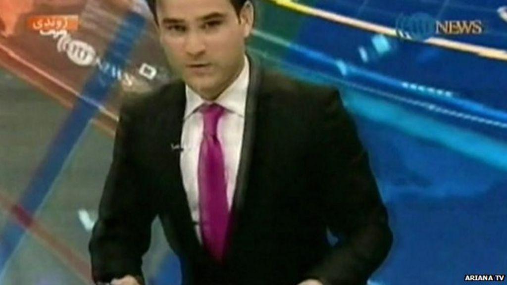 Kabul TV presenter leaves his desk as quake hits