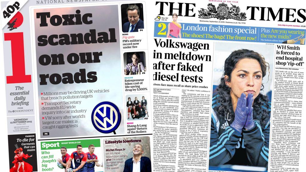 The diesel scandal makes internation news in September.