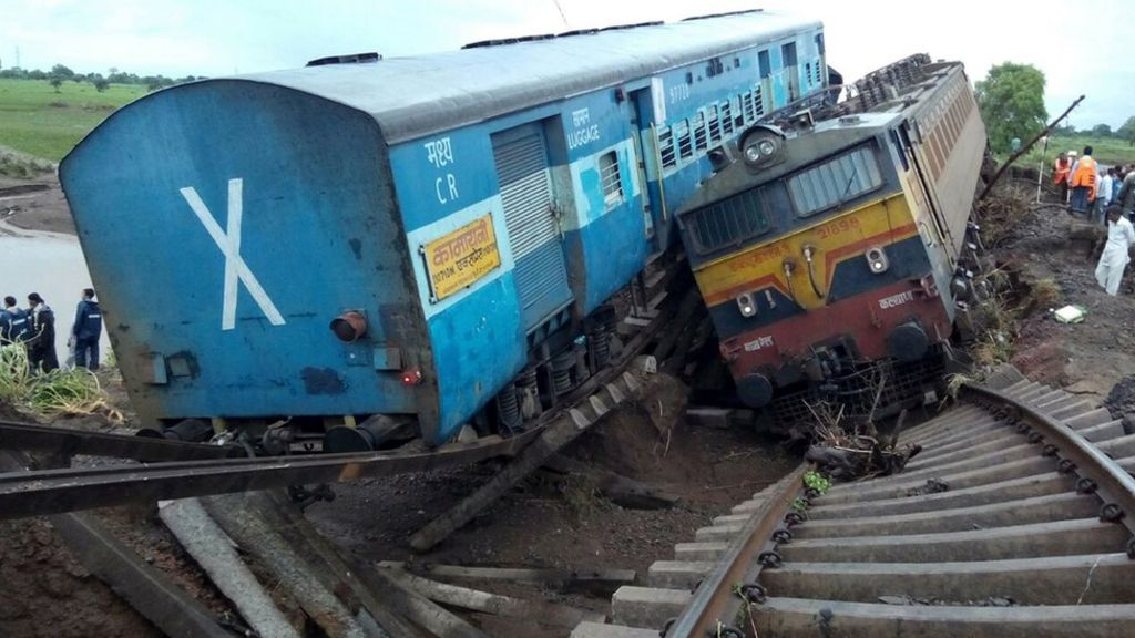 Site of the train accident near Harda. 5 August 2015