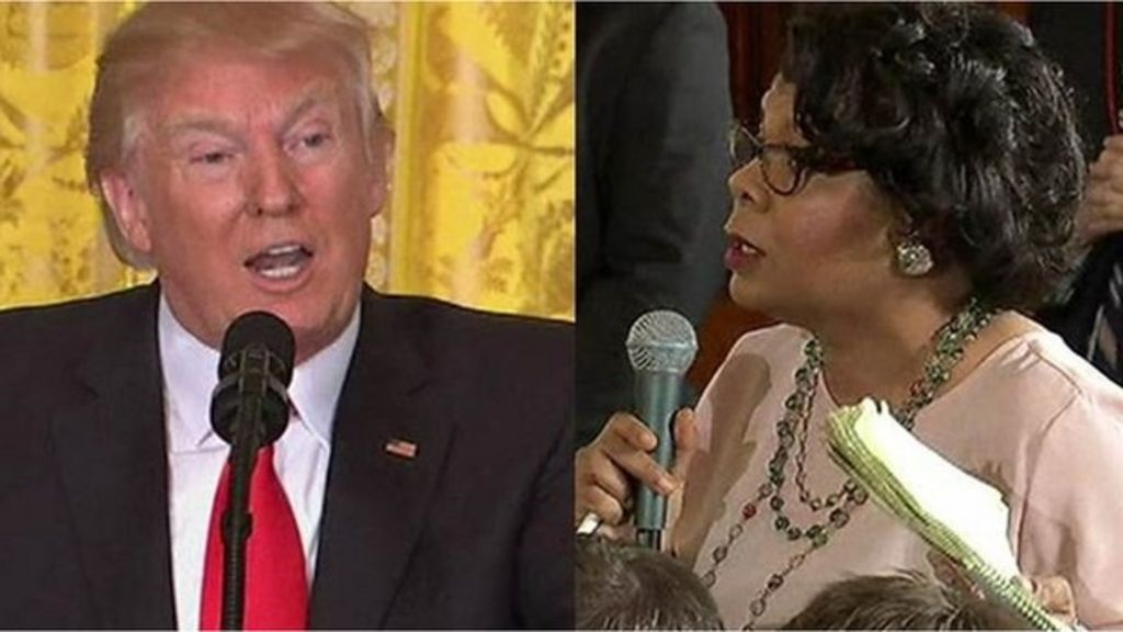 Trump reply to black reporter 'offensive'