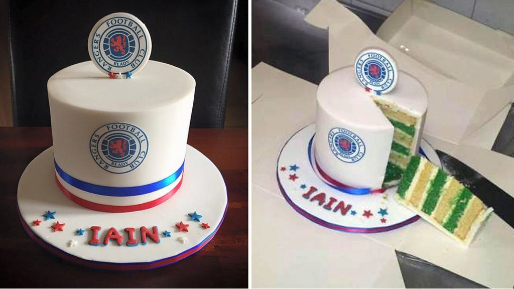 Prank Old Firm cake is hit for baker - Glasgow news - NewsLocker