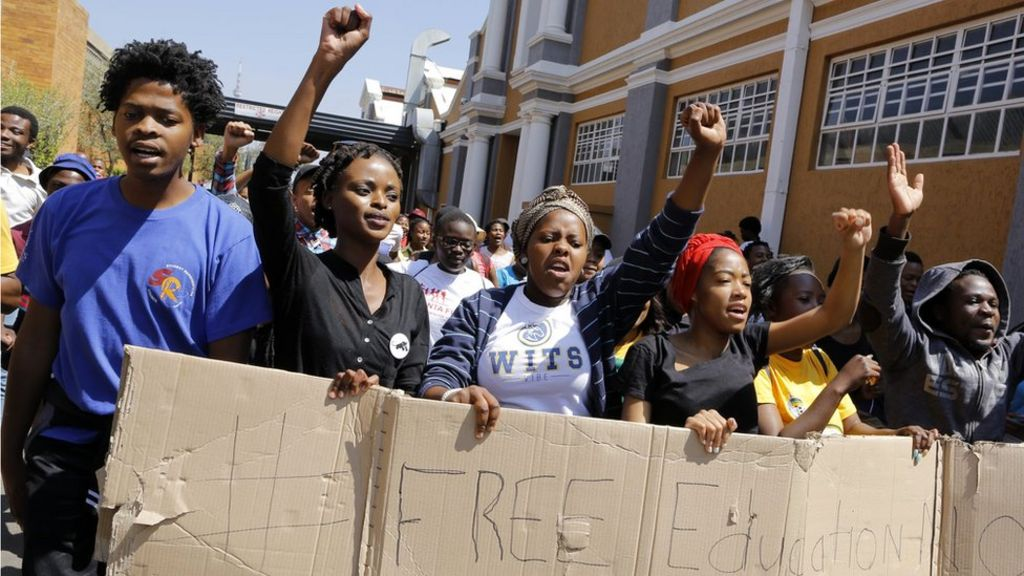 Why are South African students protesting? - BBC News