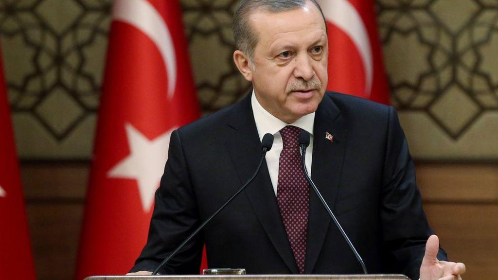 اردوغان: عمليتنا العسكرية في سوريا تستهدف  المجموعات الارهابية  فقط