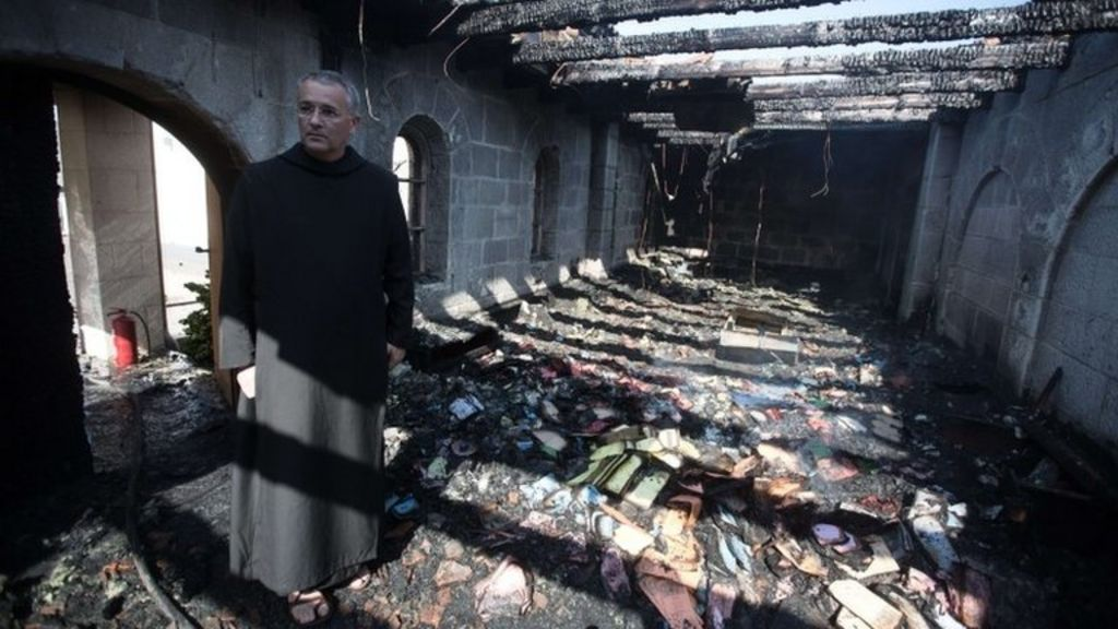 Jesus miracle church in Israel damaged 'by arson' - BBC News