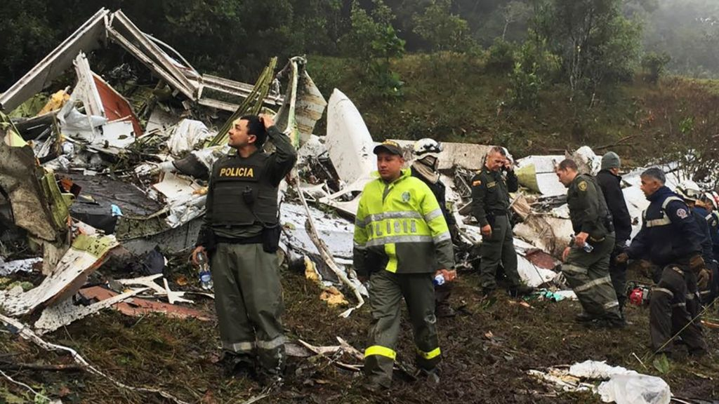 BBC News: Chapecoense air crash: Leaked tape shows plane