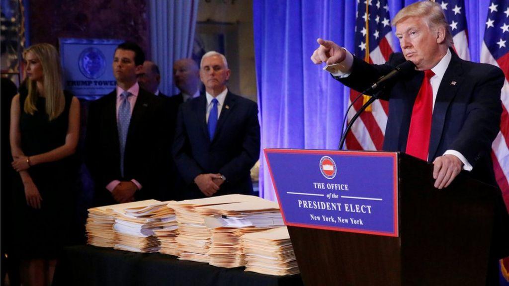 Trump Organization handover plan slammed by ethics chief