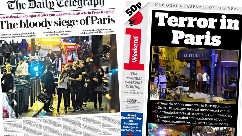 paris attacks and 39 jihadi john 39 uk newspaper headlines bbc news. Black Bedroom Furniture Sets. Home Design Ideas