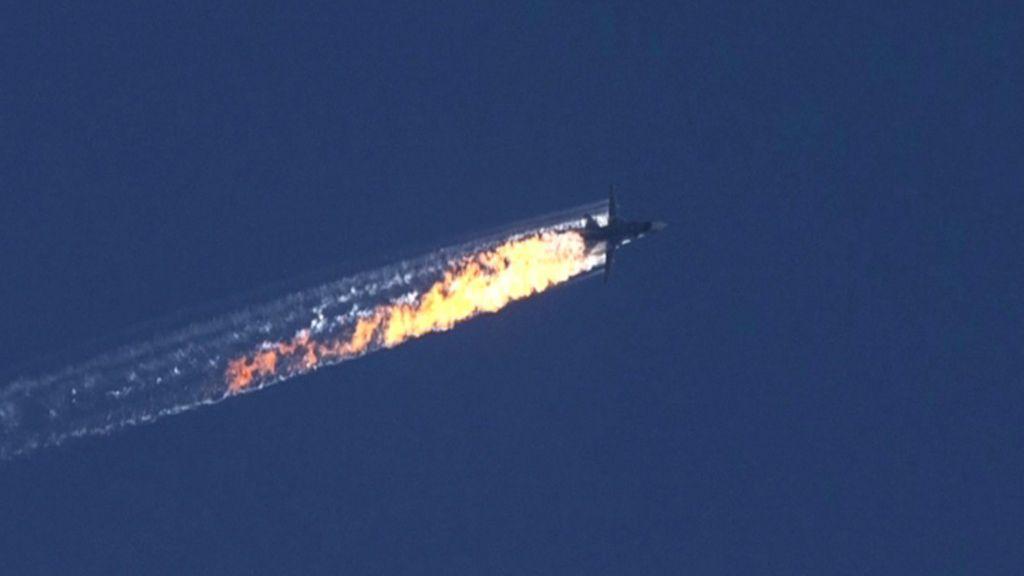 Turkey downing of Russia jet 'stab in the back' - Putin - BBC News