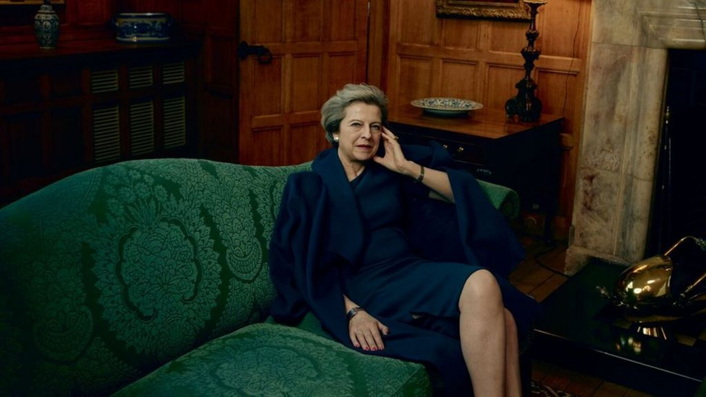 Theresa May tells Vogue about 'gentleman' Donald Trump