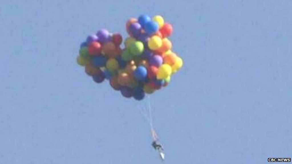 Diy Canada Chair Balloonist Charged With Mischief Bbc News