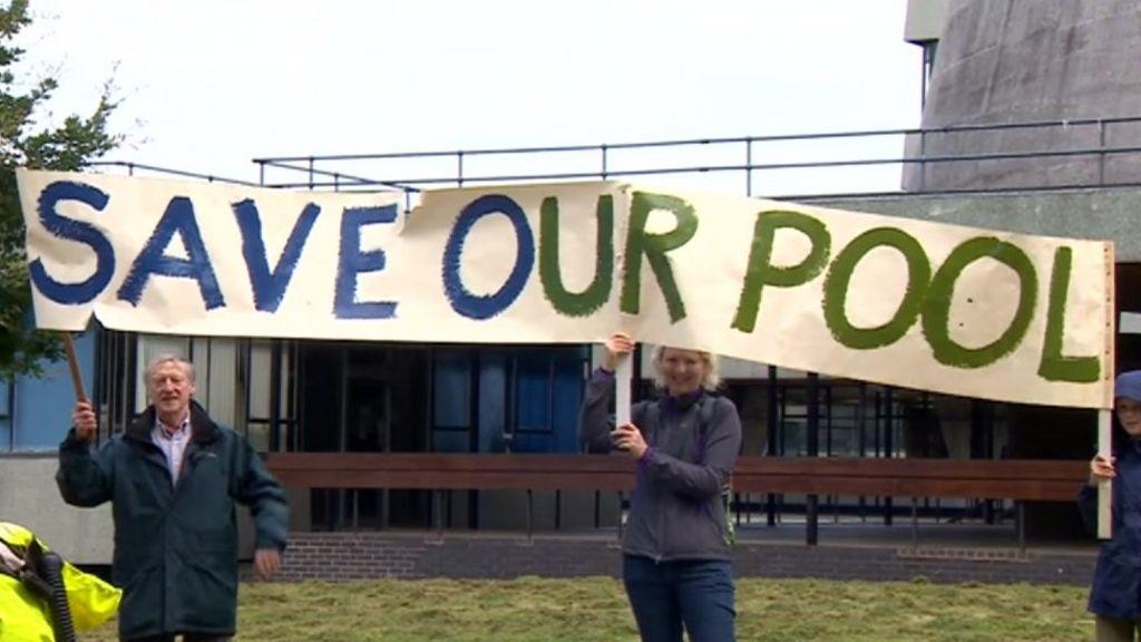 Campaigners Oppose Shrewsbury Swimming Pool Move Bbc News