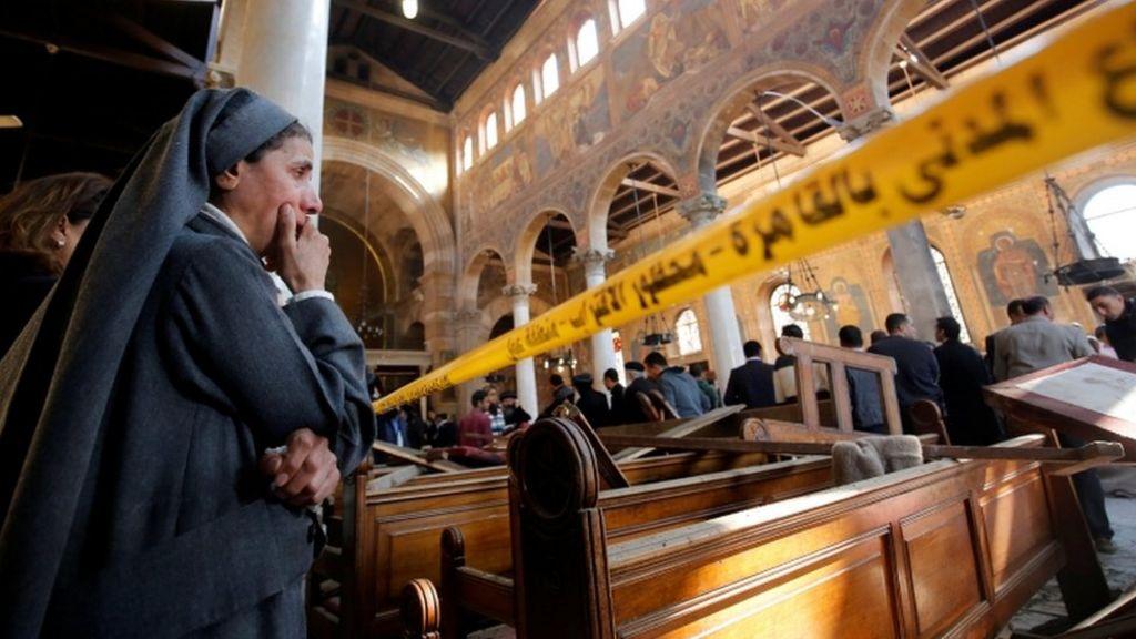 25 قتيلا في انفجار بكنيسة ملحقة بالكاتدرائية المرقسية في القاهرة - BBC Arabic