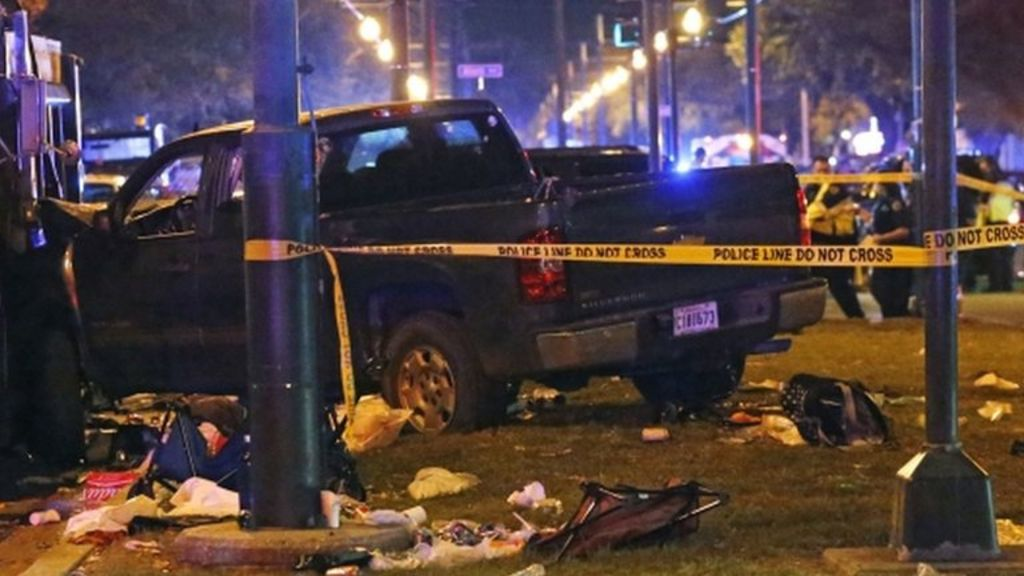 Vehicle hits crowd at New Orleans parade
