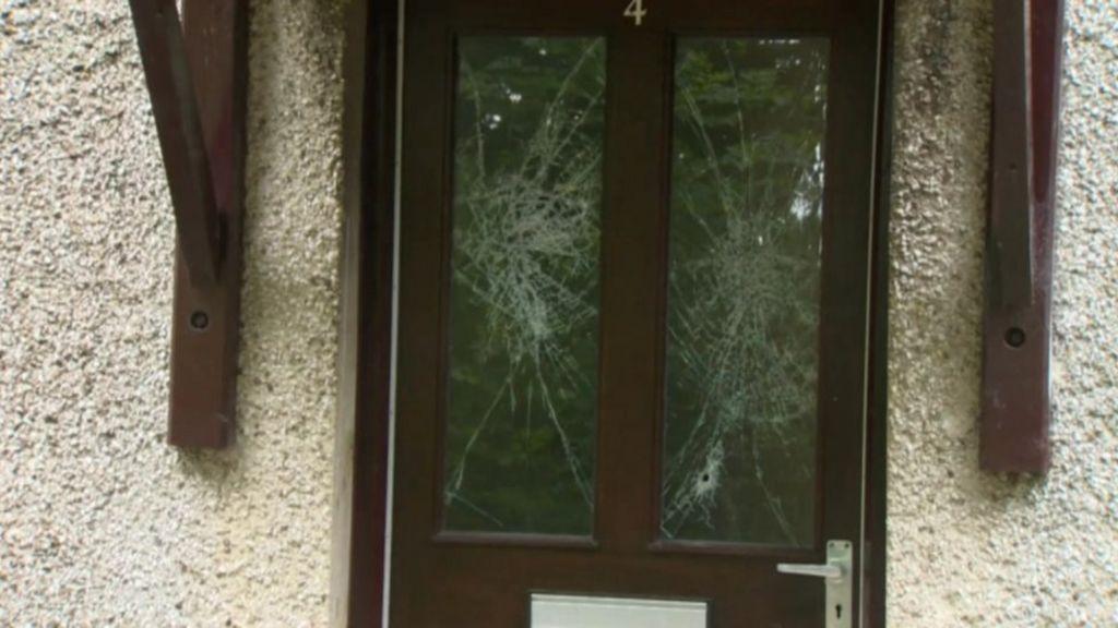 Coleraine Shooting Bullet Holes Found In Glass Panel Of Front Door Bbc News