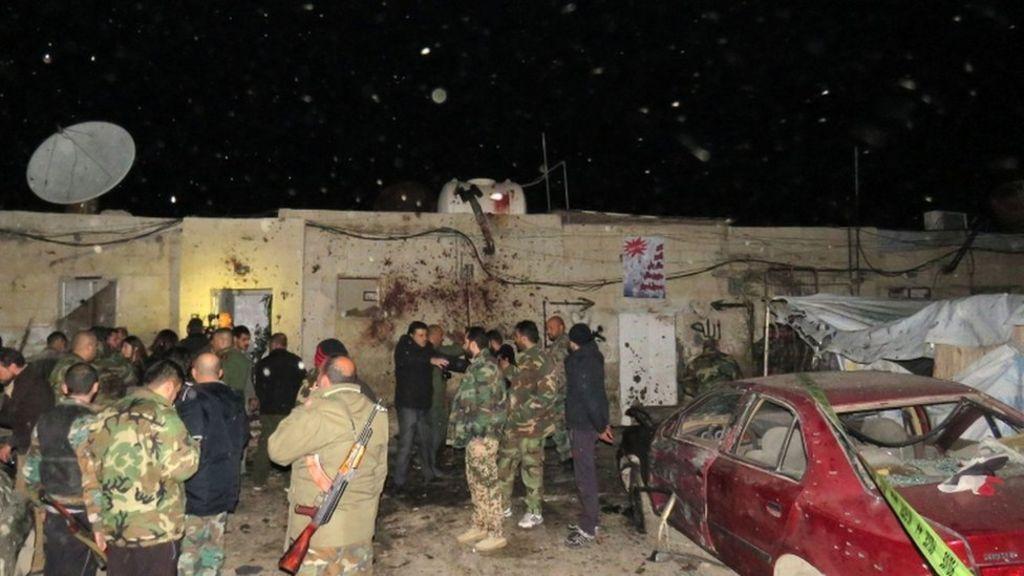 الحرب في سوريا:  تفجير انتحاري  يقتل 8 أشخاص في منطقة كفر سوسة بالعاصمة دمشق - BBC Arabic
