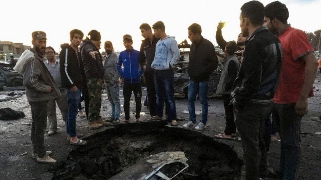 مقتل 51 شخصا في انفجار تبناه تنظيم الدولة الإسلامية في العاصمة العراقية - BBC Arabic