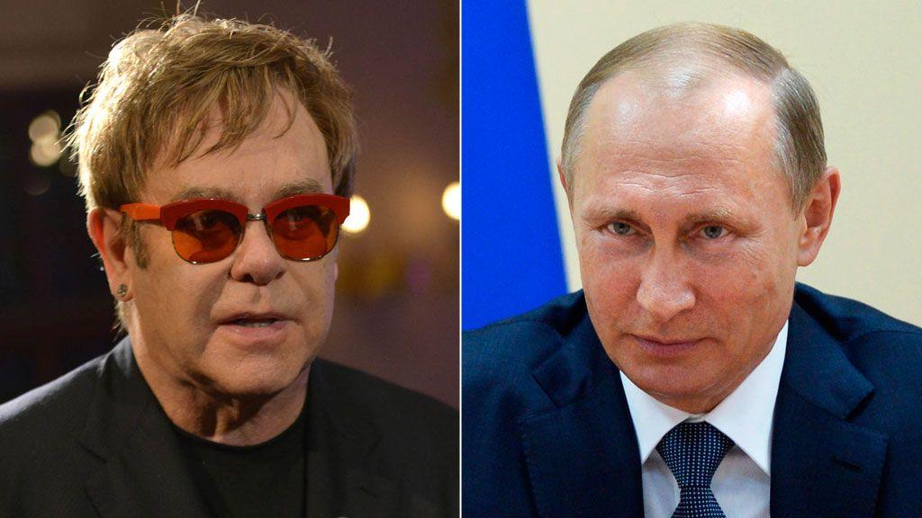 Putin offers to meet Elton John after gay rights call - Kremlin - BBC ...