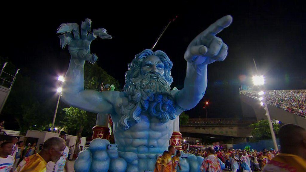 Rio's carnival meets the 2016 Olympics - BBC News