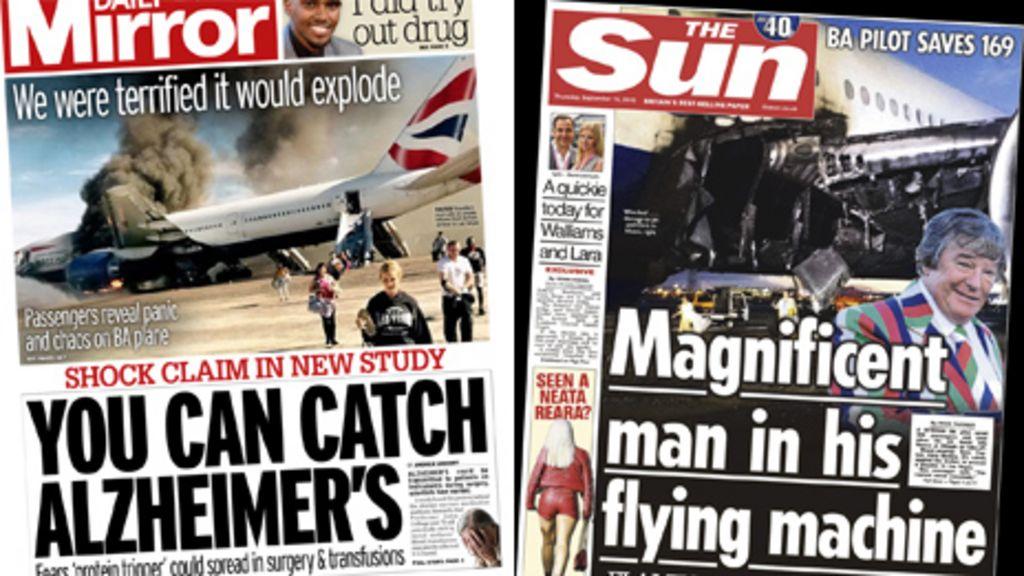News Headlines Picture: Newspaper Headlines: 'Alzheimer's Bombshell', And EU Green