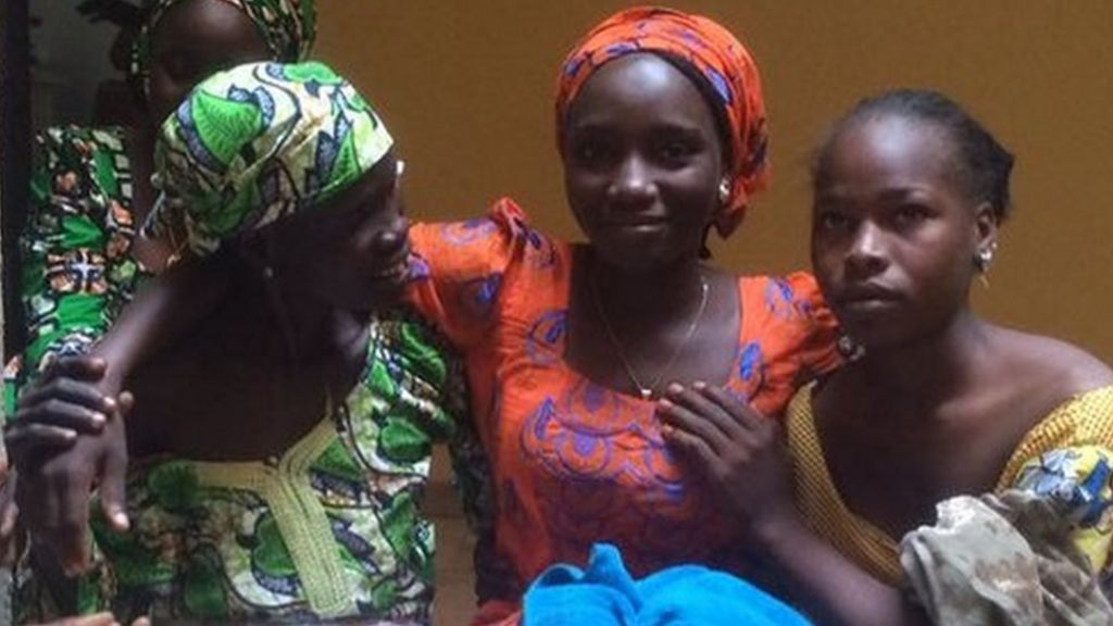 Freed Chibok girls reunited with their families for Christmas