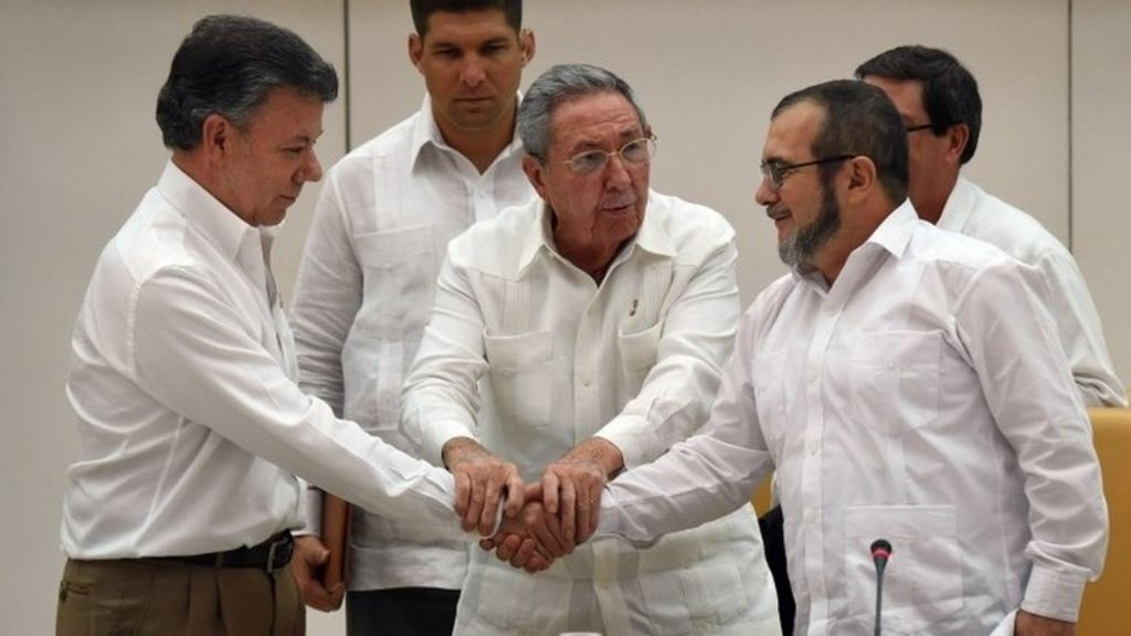 Colombia peace deal with Farc rebels 'within six months' - BBC News