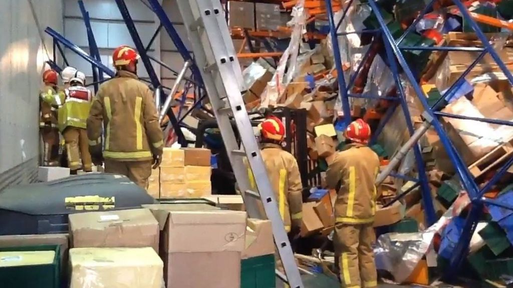 Worker Found Alive In Hinstock Warehouse Collapses Bbc News