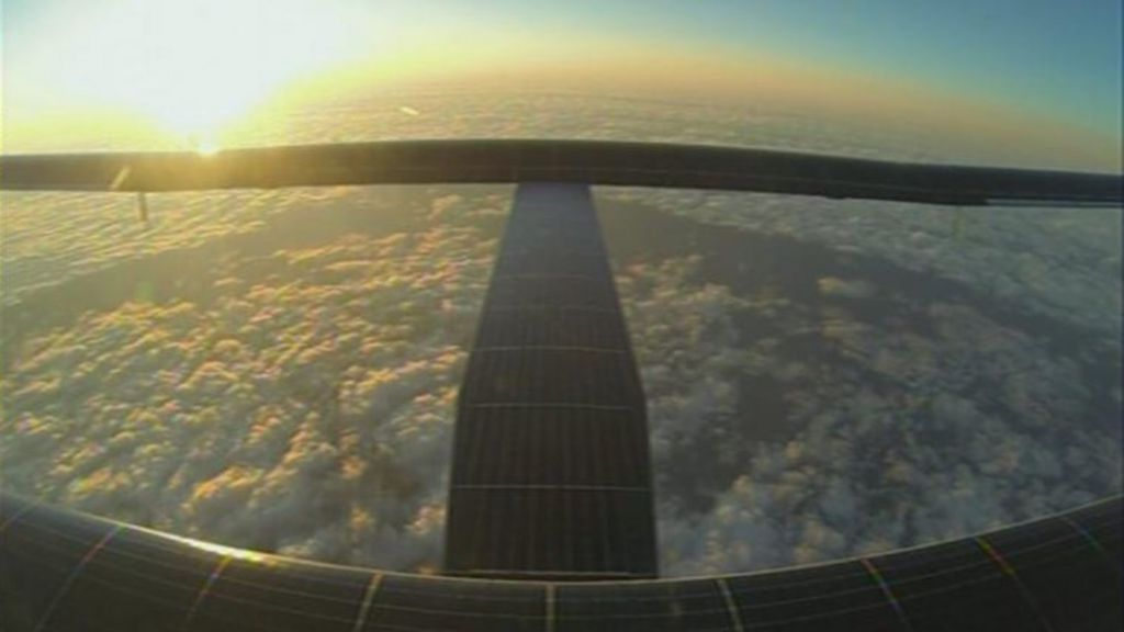 Solar Impulse Attempts To Cross Weather Front Bbc News