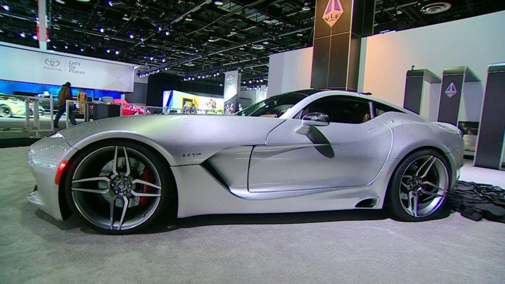 'Super-car' unveiled at Detroit motor show - BBC News