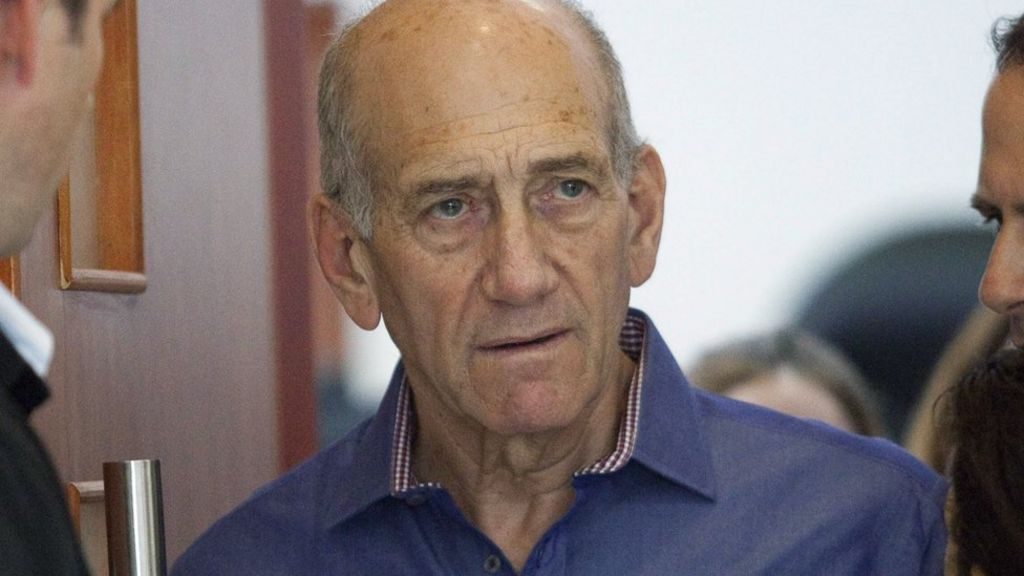 Israel ex- PM Ehud Olmert to serve jail term for bribery - BBC News