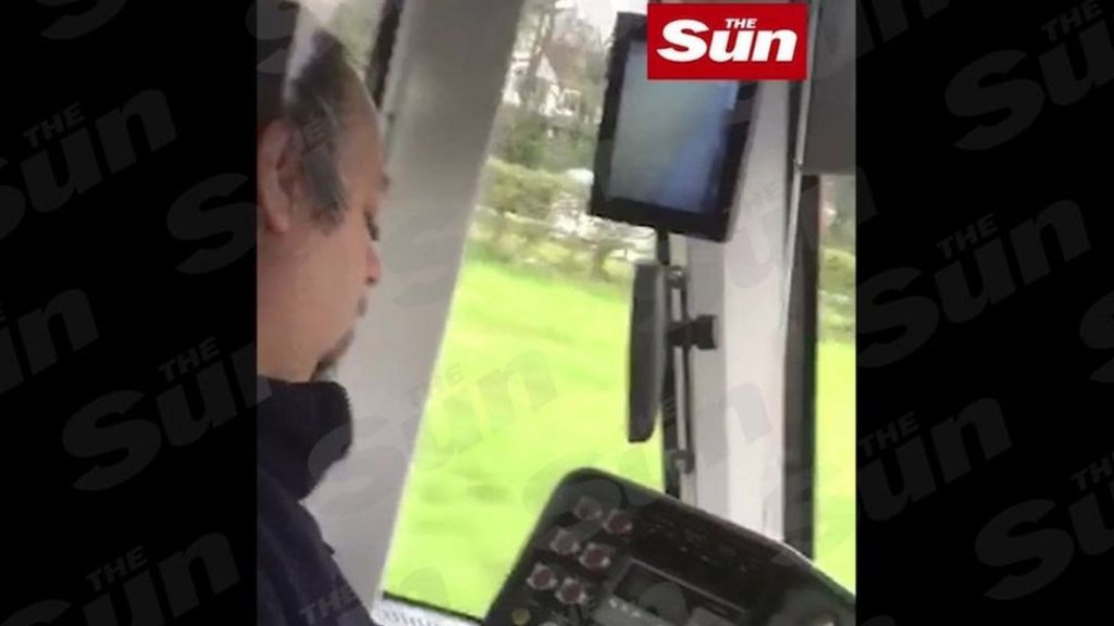A still from a video obtained by The Sun which appears to show the driver struggling to stay awake