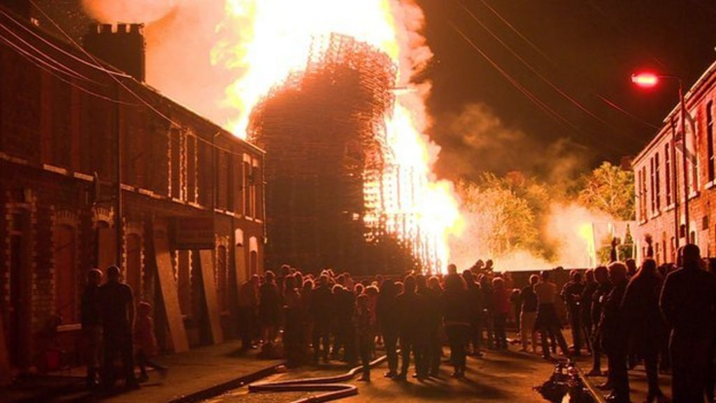 11th night  fire crews protect homes from bonfires