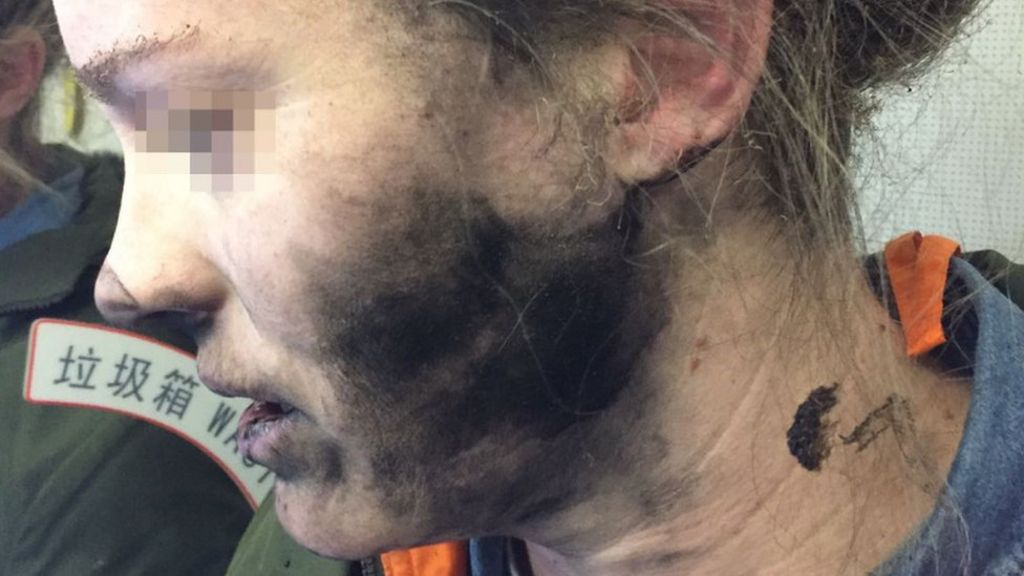 Mid-flight slumber cut short by exploding headphones - BBC News