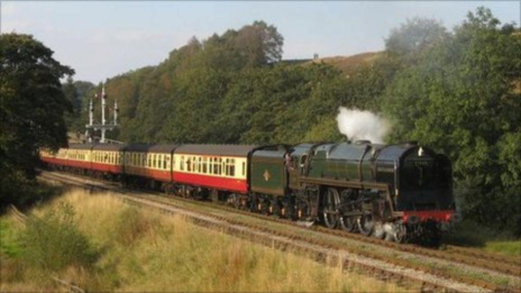 71000 leaving Goathland. Picture by Philip Benham. Copyright: NYMR