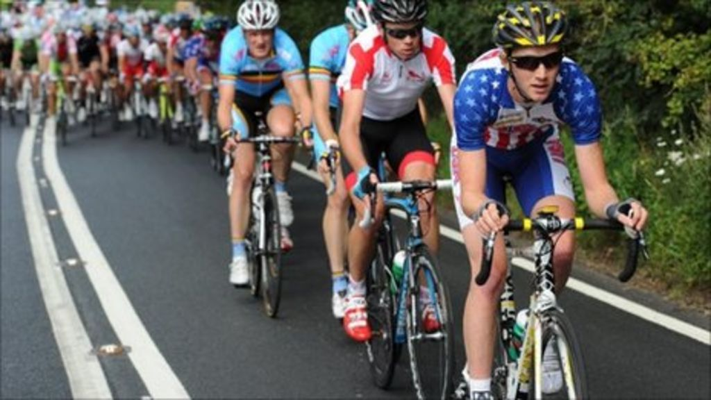 2012 offensive graffiti on olympic cycle race road bbc news