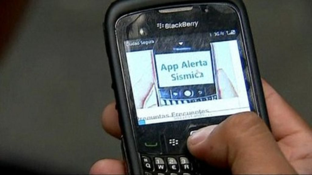 Blackberry earthquake app rolled out in Mexico - BBC News
